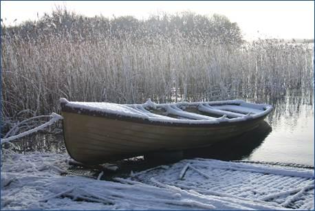 Een souvenir uit Canada – zeven centimeter sneeuw nabij Mullaghboy, Lough Sheelin, 2 maart 2015.