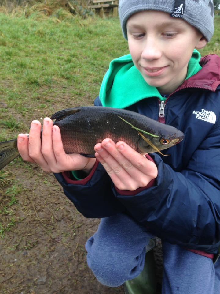 Toen de temperatuur wat omhoog ging werden er mooie vissen gevangen.