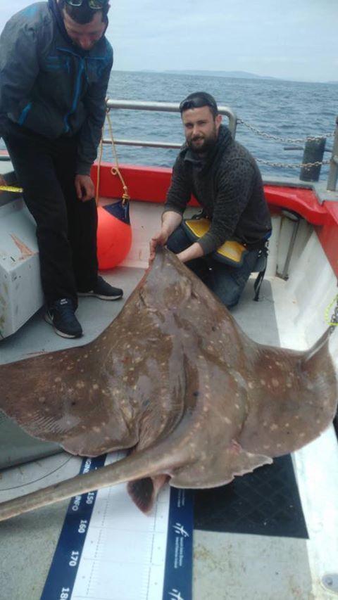 Ben's 169 pond zware vleet van vandaag, geen record maar een fantastische specimen vis.