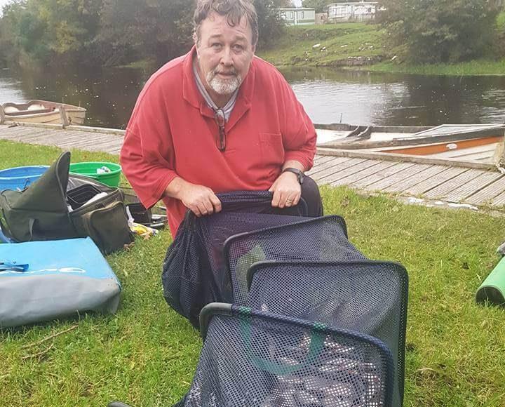 Padraig O'Riordan had ruim 62 pond aan witvis!