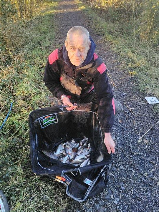 Een voorbeeld van de vangsten bij O'Briensbridge afgelopen zondag.