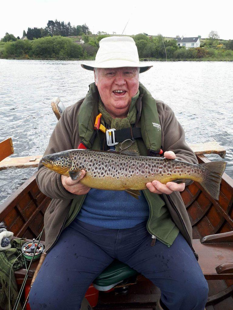 Mark Conroy met een mooie vangst.