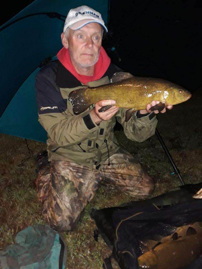 Een fraaie vangst voor Gary Smith van het Grand Canal.