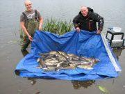 12 september 2018 | door myleskelly Kevin Lyons van de Melview Lodge in Longford bericht over het vissen op witvis in het gebied rond Longford… Bert en Ronald met hun vangst van 228 pond aan brasem.